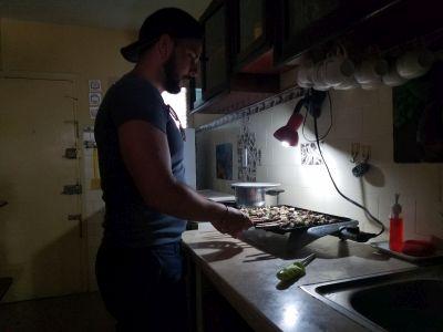 Owner in Kitchen