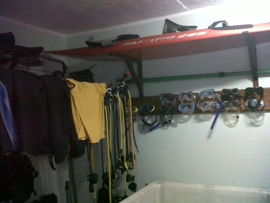 Diving equipment room