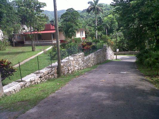 Road at the entrance