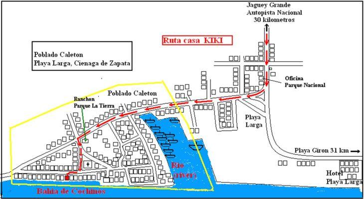 Route to Casa Kiki Hostal