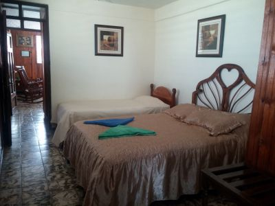 Room 1 Double + 1 single bed